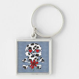 Cow Skull Valentine Keychain