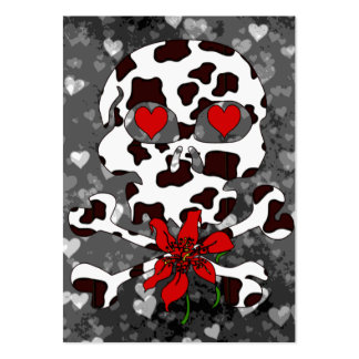 Cow Skull Valentine Large Business Card