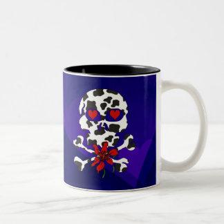 Cow Skull Valentine Two-Tone Coffee Mug