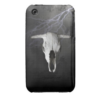 COW SKULL WITH LIGHTNING iPhone 3 Case-Mate CASES