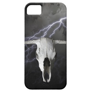 COW SKULL WITH LIGHTNING iPhone SE/5/5s CASE