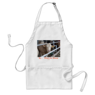 Cow, So....  What's for Dinner ?? Adult Apron