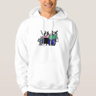 Cow soccer family hoodie