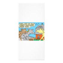COW / SOUR CREAM HUMOR CARTOON RACK CARD