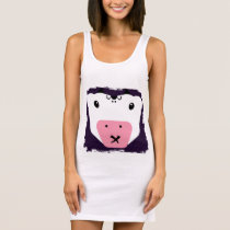 Cow Speak No Evil Sleeveless Dress