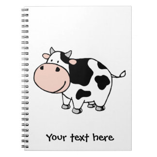 Cow Spiral Notebook