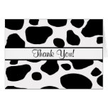 Cow Spots All Ocassion Thank You Note Greeting Card