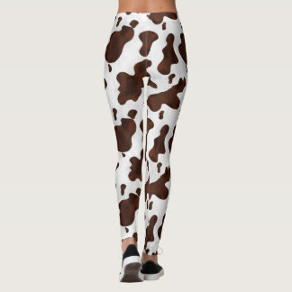 Cow Spots Cowhide Animal Country Western Cowgirl Leggings