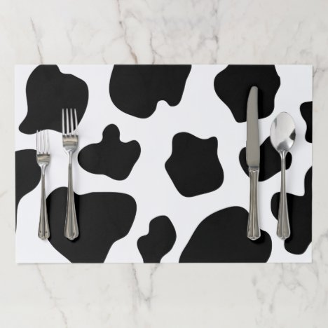 Cow spots farm animal pattern tearaway placemats