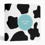 Cow spots pattern binder | Funny animal print