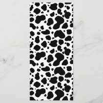 Cow Spots Pattern Black and White Animal Print