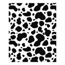Cow Spots Pattern Black and White Animal Print Flyer