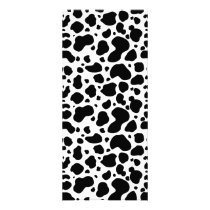 Cow Spots Pattern Black and White Animal Print Rack Card