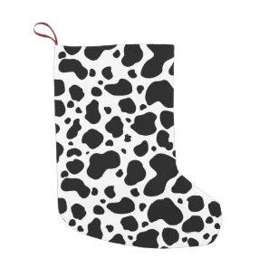 Black And White Cow Christmas Stockings Zazzle
