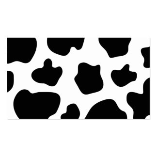 Cow spots pattern business card | animal print