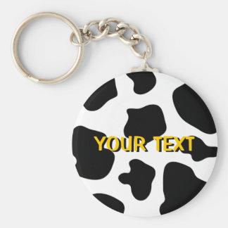 Cow spots pattern keychain | Funny animal print