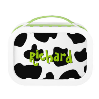 Cow spots pattern lunchbox | Cute animal print at Zazzle