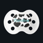 "Cow spots pattern pacifier | Baby animal print<br><div class=""desc"">Cow spots pattern baby pacifier 