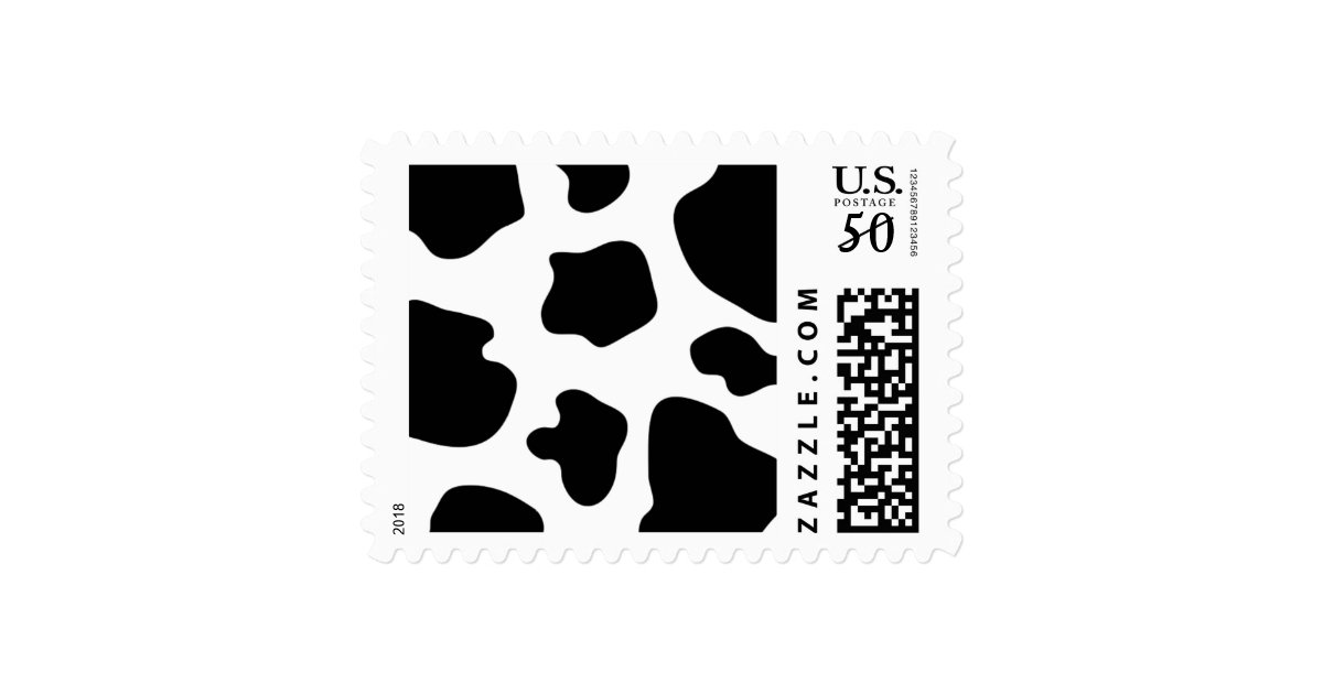 Cow postage zazzle cow spots pattern stamps funny farm animal print pronofoot35fo Gallery
