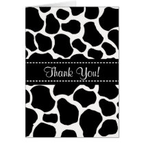 Cow Spots Thank You Note Card