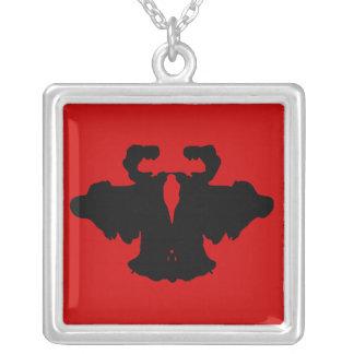 Cow Square Pendant Necklace