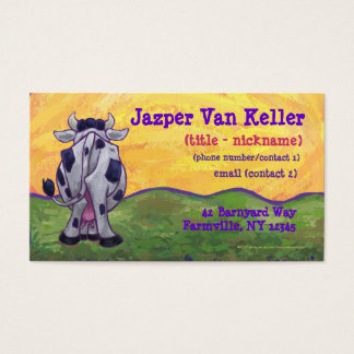 Cow Stationery Business Card