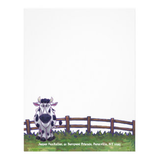 Cow Stationery Letterhead