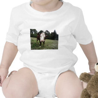 Cow Sticking Out Tongue Rompers