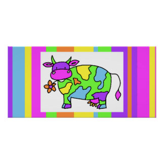 Cow Stripes Poster