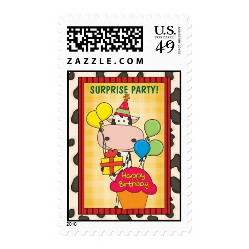 Cow - Surprise Birthday Party Postage