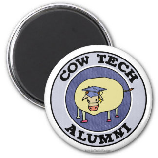 Cow Tech Alumni 2 Inch Round Magnet