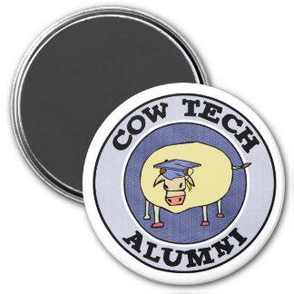 Cow Tech Alumni 3 Inch Round Magnet