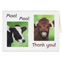 Cow Thank You card