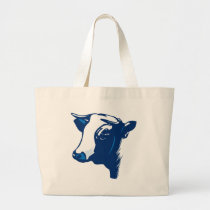 Cow the Animal Large Tote Bag
