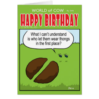 Cow Thongs Greeting Card