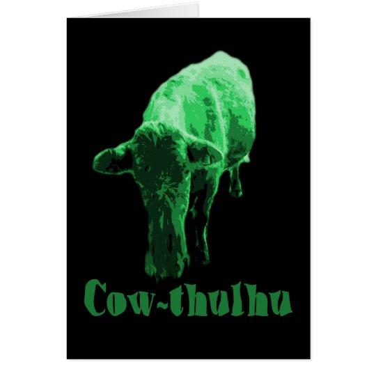 Cow-thulhu Card