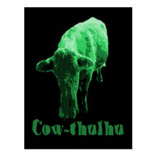 Cow-thulhu Postcard