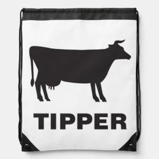 Cow Tipper Drawstring Bag