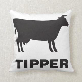 Cow Tipper Throw Pillow