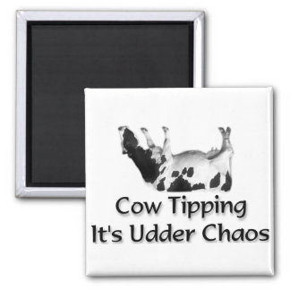 Cow Tipping  Fridge Magnet