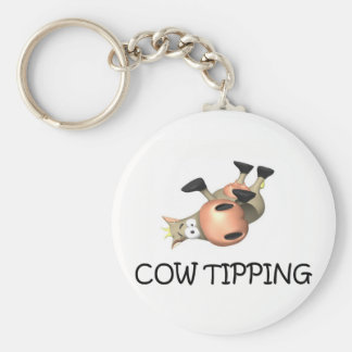 Cow Tipping Key Chain