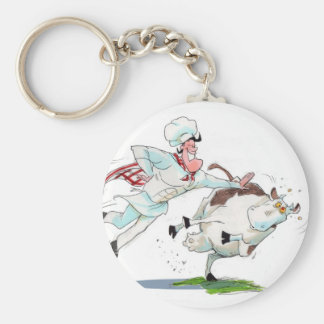 Cow Tipping Keychain