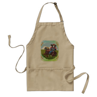 Cow Tractor Adult Apron