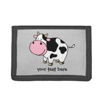 Cow Tri-fold Wallet