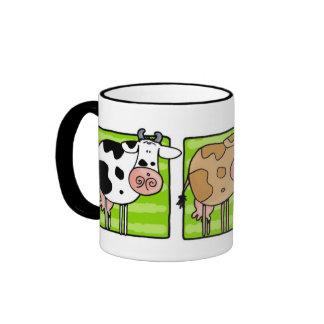 cow trio ringer coffee mug