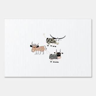 Cow Trio Yard Sign