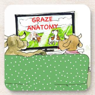 Cow TV Shows Funny Cartoon Coaster