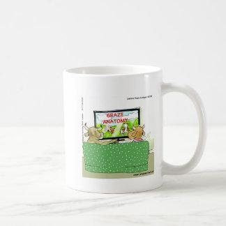 Cow TV Shows Funny Cartoon Coffee Mug