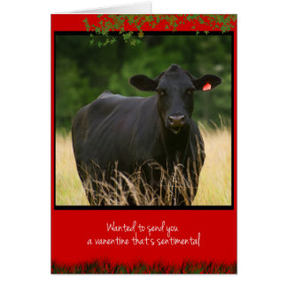 Cow Valentine Card