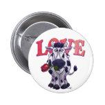 Cow Valentine's Day 2 Inch Round Button